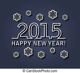 2015, heureux, carte, nouveau, vecteur, année