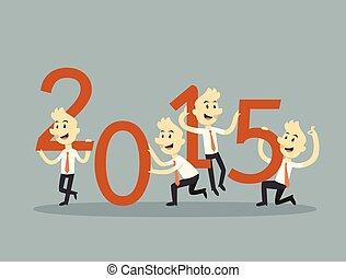 2015, homme affaires, collaboration, tenue