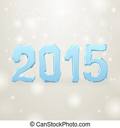 2015 Ice New Year gray background