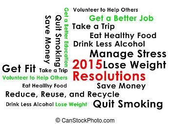 2015, início, resolução, ano novo