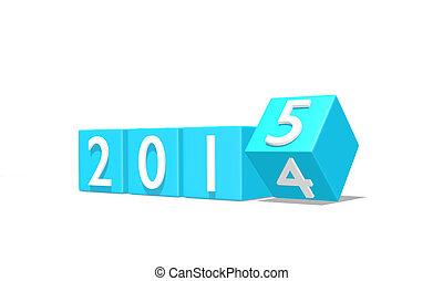 2015, jaarwisseling, 3d