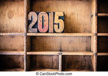 2015, legno, tema, concetto, letterpress