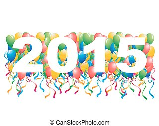 2015, luftballone, jahreswechsel, hintergrund