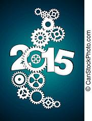 2015 Mechanical Gear dark blue background