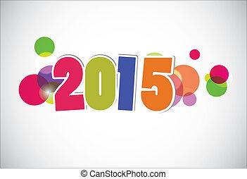 2015, neu , glücklich, card., jahr