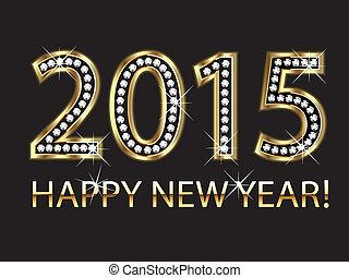 2015, neu , glücklich, hintergrund, jahr