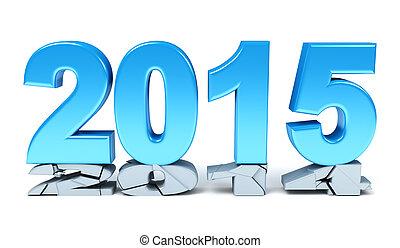 2015, neu , glücklich, -, jahr