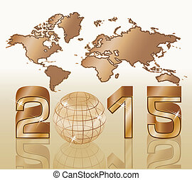 2015 New year background, vector