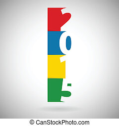 2015 New Year Blocks - 2015 new year blocks illustration