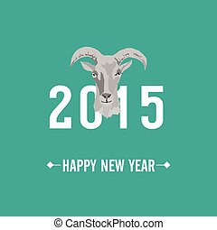 2015 new year card with Goat
