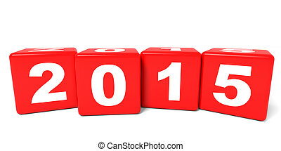 2015 New Year cubes.