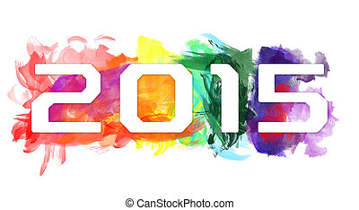 2015- New Year Design - An abstract illustration on New Year...