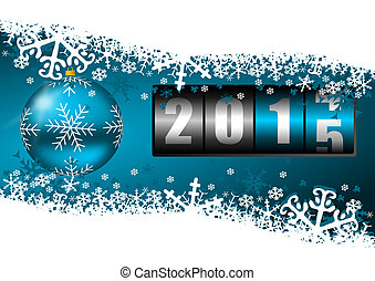 2015 new year illustration with counter