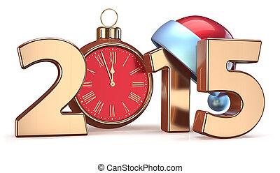 2015 New Years Eve alarm clock Christmas ball decoration...