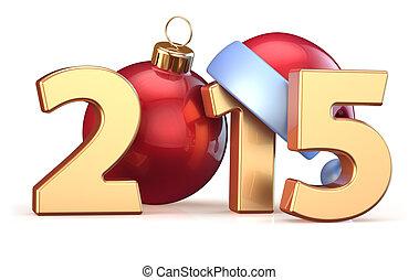 2015 New Years Eve bauble Christmas ball decoration Santa...