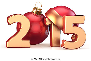 2015 New Years Eve Christmas ball decoration bauble - 2015...
