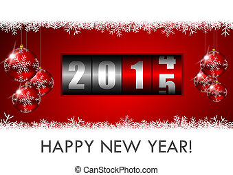 2015, nieuw, toonbank, illustratie, jaren