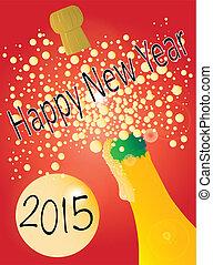 2015, nouveau, bouteille, années