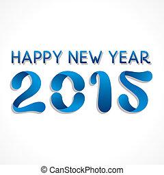 2015, nouveau, créatif, conception, année