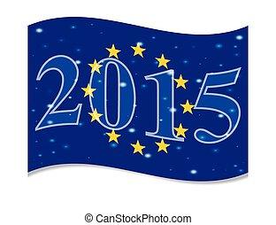 2015, nouveau, drapeau, principal, année