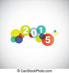 2015, nouveau, heureux, card., année