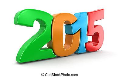 2015, novo, (clipping, ano, path)