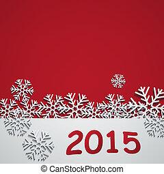 2015, novo, feliz, ano