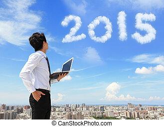 2015, nuage, regard, homme affaires