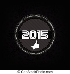 2015, nuevo, celebrar, tarjeta, año