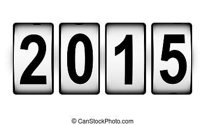 2015, nuevo, concepto, año