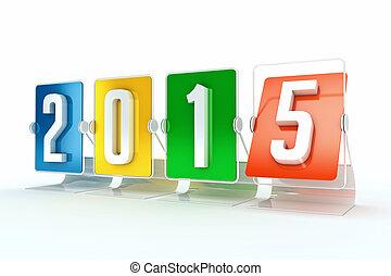 2015, nuevo, feliz, año