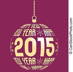2015, nuevo, feliz, plano de fondo, año