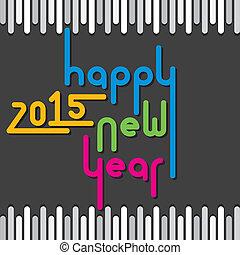 2015, nuevo, feliz, saludo, año