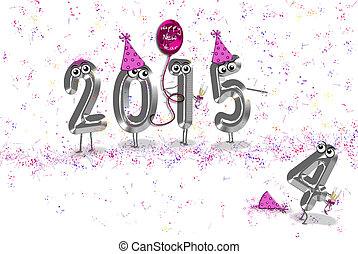 2015, nuevo, humor, año