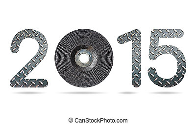 2015 numeric from grinding wheel and grunge diamond metal plate