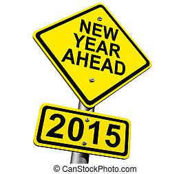 2015, nuovo, avanti, anno