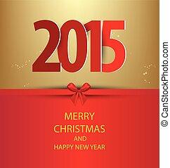 2015, nuovo, felice, anno