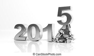 2015, nuovo, venuta, anno
