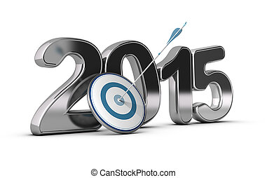 2015 Objectives Concept - 3D metallic Year 2015 with a...