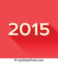 2015, ombre, année, long, signe