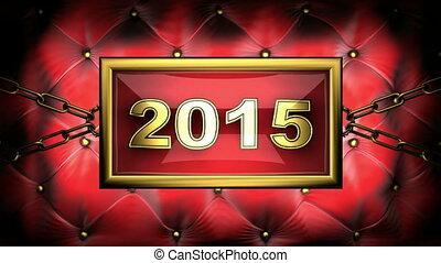 2015  on velvet background