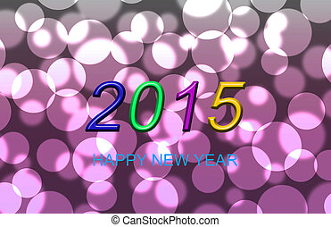2015 Pink bokeh background