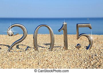 2015, plage, nombre, année