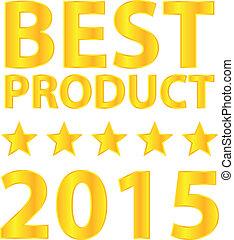 2015, prodotto, meglio, premio
