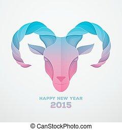 2015, símbolo, goat