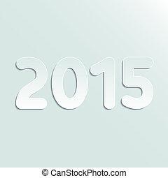 2015, symbol, papier, rok
