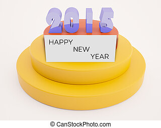 2015 text with happy new year on card