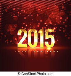 2015 with reflection placed in front of red background