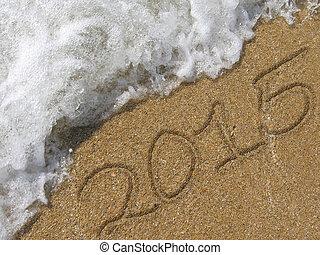 2015 written in the sand beach