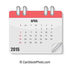 2015 Year Calendar Vector Illustration